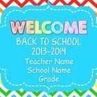 This powerpoint is perfect for any back to school events: Back to School Night, Open House or the First Day of School. It includes 30 different sli...