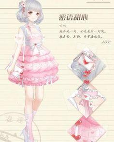 images for anime girl fantasy Anime Chibi, Kawaii Anime, Manga Anime, Komplette Outfits, Anime Outfits, Nikki Love, Anime Dress, Estilo Anime, Games For Girls