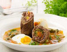 Schwalbennest - Rezept - ichkoche.at Eine gefüllte Rindsroulade mit einer Extra-Portion Ei!