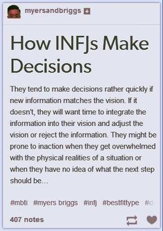 How INFJS Make Decisions...  this is real!