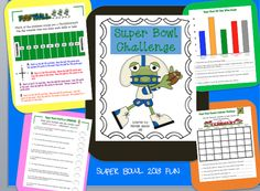 Super Bowl Teams are decided!  This engaging mini-packet is perfect for your little football fans grades 2-3!