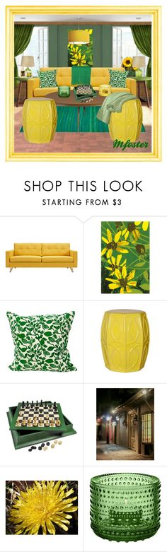 """""""Green &Yellow"""" by mfoster07 ❤ liked on Polyvore featuring interior, interiors, interior design, home, home decor, interior decorating, Emissary and iittala"""