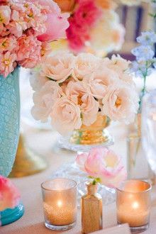 Pale peach roses! WeClickd.com - The Social Network for Weddings