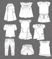 set-fashion-flat-sketches-girl – Fashion World Set Fashion, Fashion Flats, Trendy Fashion, Fashion Design For Kids, Fashion Kids, Little Girl Dresses, Girls Dresses, Classy Outfit, Fashion Vector