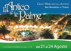 """""""L'Antico e le Palme"""" a San Benedetto del Tronto dal 21 al 24 agosto"""