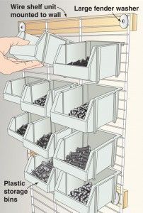 Wire shelving for storage-bin support