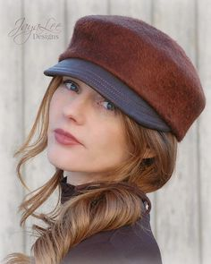 Rustic Felt Cadet Cap by GreenTrunkDesigns on Etsy