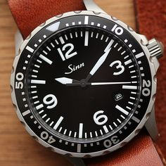 Vintage Watches The Sinn 657 - a classic three-hand aviator with a bezel, powered by the workhorse ETA Vintage Rolex, Vintage Watches, Cool Watches, Watches For Men, Dream Watches, Sinn Watch, Mechanical Watch, Automatic Watch, Luxury Watches