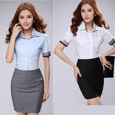 2 Piece Set Designer High Quality Cotton Women Professional Blouses Formal Office Shirts With Skirt Lady Short Sleeves Blousas - http://www.freshinstyle.com/products/2-piece-set-designer-high-quality-cotton-women-professional-blouses-formal-office-shirts-with-skirt-lady-short-sleeves-blousas/