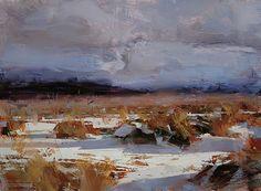 Golden Winter by Tibor Nagy Oil ~ 12 x 16