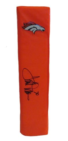 Terrell Davis Autographed Denver Broncos Full Size Football End Zone Touchdown Pylon. This is a brand-new custom Terrell Davis signed Denver Broncos full sizefootball end zone pylon. This pylon measures 4inches (Width) X 4inches (Length) X 18inches (Height).Terrellsigned the pylonin black sharpie.Check out the photo of Terrellsigning for us. ** Proof photo is included for free with purchase. Please click on images to enlarge. Please browse our websitefor additional NFL & NCAA…