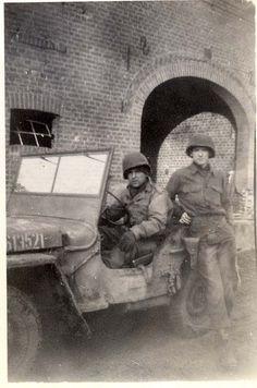 Jeep, driver & John Cavner
