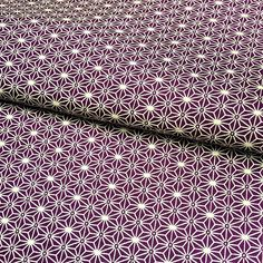 Tissu japonais, motif traditionnel ASANOHA violet, beige, coton 110x50 Nuno, Beige, Violet, Eyeshadow, Etsy, Vintage, Traditional, Handmade Gifts, Pattern