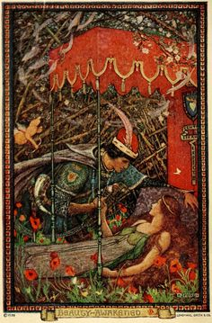 Celtic Vital Signs [Reels, Rhymes & Rebellion]: The Blue Fairy Book [by Andrew Lang] - illustrated by H. Grimm, Briar Rose, Classic Fairy Tales, Blue Fairy, Fairytale Art, Children's Book Illustration, Beauty Illustration, Book Illustrations, Fantasy Art