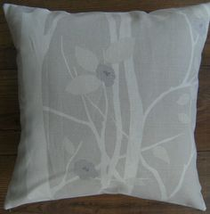 Designer Cushion Covers made with Laura Ashley Cottonwood Natural Beige Pillows Duck Egg Blue Cushions, Modern Cushions, Brown Cushions, Blue Throw Pillows, Blue Cushion Covers, Cushion Cover Designs, Beige Cushions, Floral Cushions