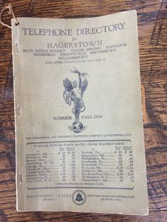 Excited to share the latest addition to my #etsy shop: Vintage 1939 Telephone Directory for Hagerstown, Maryland https://etsy.me/2GDcAT2 #vintage #collectibles #phonedirectory #collectible #hagerstown #md #maryland #phonebook #vintagephonebook