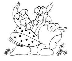 desenhos para pano de prato bichinho joaninha bebe