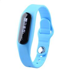 Aenmil® Sports Fitness Tracker Touch Screen Smart Watch Bluetooth Wristwatch Health Pedometer Wrist Bracelet Sync Phone with Incoming Call and Message Smart Reminder for IOS Android Device (Blue). 0.69 inch Touch Screen Bluetooth Smart Waterproof Bracelet. Lots of funtions as message/call reminder,a colock/alarm,take photos,sleeping monitor,exercise remind and share. Exclusive first touch operation ,Control music playback. Supported models: iPhone 4S/5/5S/6/6plus/ IOS 7.0 and above, Sa...