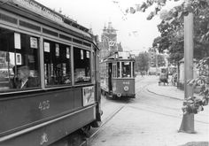 1963. Tramlijn 27 on the Prins Hendrikkade in Amsterdam. Photo Cor Pot. . Tramlijn 27 was established in 1962 as rush hour reinforcement tram for tramlijn 17 for the routet Surinameplein - Kinkerstraat - Rozengracht - Central Station. In the evening rush hour passengers could not exit tramlijn 27 at the stops on the section Central Station - Postjesweg/Hoofdweg of this route. Passengers that needed to exit on those stops had to take tramlijn 27. #amsterdam #1963 #PrinsHendrikkade