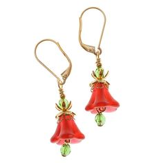 Christmas Day Earrings - Beading Projects & Tutorials - Beading Resources | Beadaholique