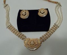 SOLD! THANK YOU!! Vintage pearl and rhinestone necklace and by LilaCInspirations, $50.00