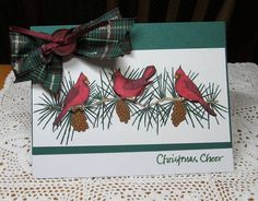 Christmas Cardinals by JD from PAUSA - Cards and Paper Crafts at Splitcoaststampers
