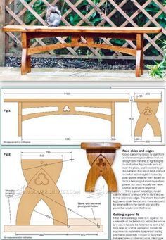 Gothic Bench Plans - Furniture Plans and Projects | WoodArchivist.com