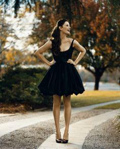 Black. Semi formal. Dress