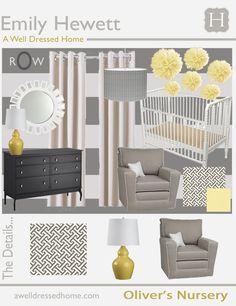 Ideas For A Grey Yellow Nursery