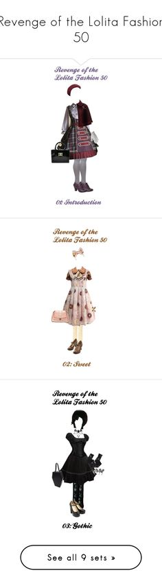 """""""Revenge of the Lolita Fashion 50"""" by sakuuya ❤ liked on Polyvore featuring Dorothy Perkins, Hush Puppies, Kooba, Urstadt.Swan, Judith Jack, River Island, Hot Topic, Ryan Seacrest Distinction, Dr. Martens and Alex and Chloe"""