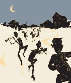 Nordin as Pied Piper in the moonlight