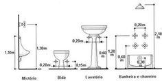 altura de canos - instalação hidráulica - Pesquisa Google