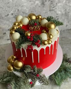 Christmas Cupcake Cake, Christmas Themed Cake, Christmas Cake Designs, Christmas Deserts, Christmas Cake Decorations, Holiday Cakes, Holiday Desserts, Christmas Baking, Halloween Snacks