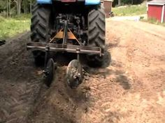 Part 1 - Home made tractor attachment hiller row bed maker planting potatoes - YouTube