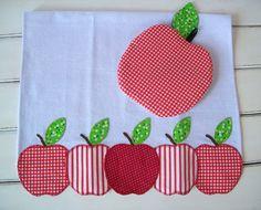 .Apple tea towel