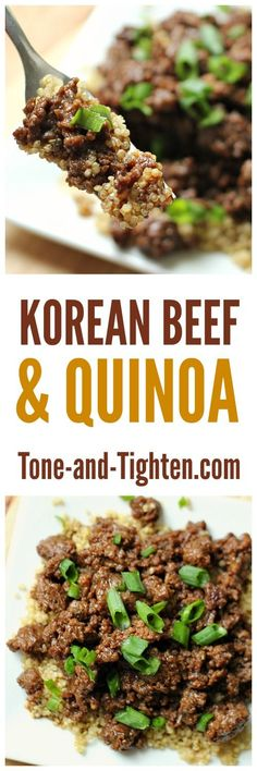Delicious and nutritious - Korean Beef and Quinoa from Tone-and-Tighten!
