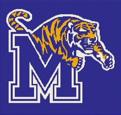 $5 - University of Memphis Tigers -  Crochet Afghan Pattern by AngelicCrochetDesign on Etsy