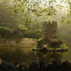 The hidden castle in Sierra, Portugal