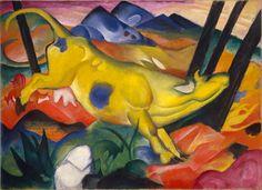 Franz Marc: Die gelbe Kuh, 1911. Öl auf Leinwand, 140,5 x 189,2 cm; Solomon R. Guggenheim Museum, New York. Solomon R. Guggenheim Founding Collection