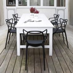 for outdoor chairs, these are quite ornate. Just a heads up that you may prefer to only have 8 chairs at table at a time to tame the look if too *fussy*. Bringing other four out at special occasions. just a thought. of course, a lighter color like the mustard would have less impact.