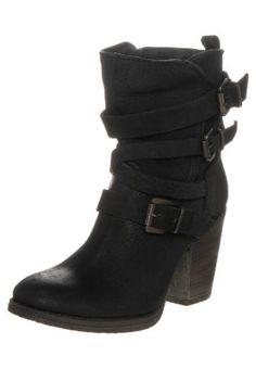 YALE - Cowboy-/ Bikerstiefelette - black leather