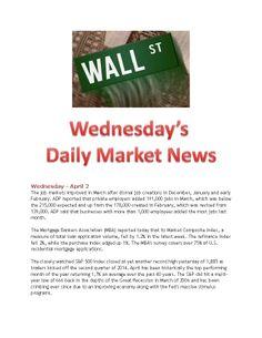 4-2-14 Wednesday Market News www.equitysourcemortgage.com