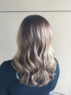 Balayage ombre dimension fall hair