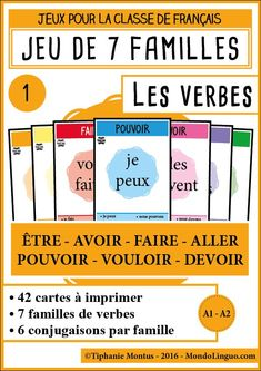 A brilliant way to incorporate learning with play. French Teacher, Teaching French, Teaching English, French Verbs, French Grammar, Teaching Verbs, Teaching Resources, French Education, Kids Education