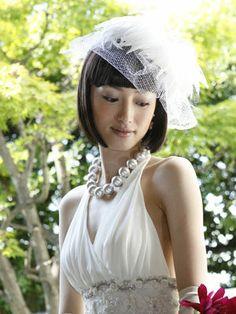 ボブ 花嫁のヘアスタイル 画像