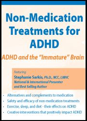 Thursday, May 2, 2013  Full-Day-Interactive Webcast 6+CE ASHA Approved Hours  Non-Medication Treatments For ADHD: ADHD And The Immature Brain-Pinned by SOS Inc. Resources http://pinterest.com/sostherapy.