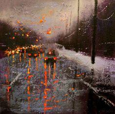 Winter Reflection, Oil painting by Chin H Shin Art Sketches, Art Drawings, Pretty Art, Art Plastique, Art Sketchbook, Aesthetic Art, Oeuvre D'art, Art Inspo, Amazing Art