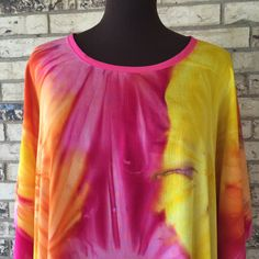 Plus Size Extra Long Lightweight Rayon Tie Dye by OutrageousRags