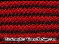 Stricken - Strukturmuster - Perlstreifen - Veronika Hug