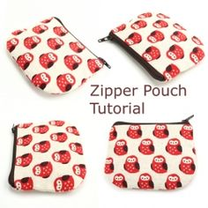 My method of making a zipper pouch with a few more added tidbits to help you make the perfect pouch. #craftgawker